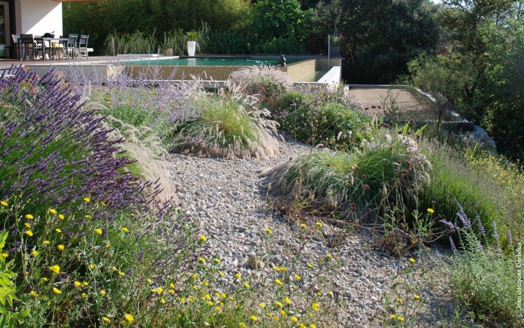 idée pour aménager un dénivelé au jardin